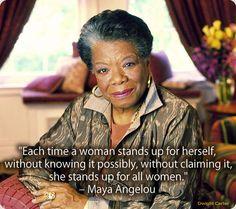 Maya Angelou on women