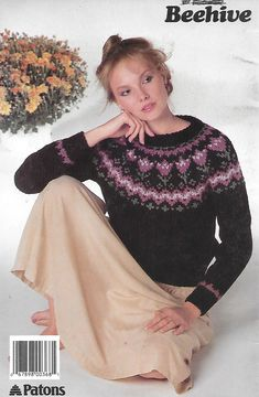 Patons 452 More Nordic Knits By Beehive Yarn For Sale, Fair Isle Pattern, Knitting Patterns, Bell Sleeve Top, Beehive, Yarns, Knits, Sweaters, Tops