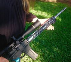 Thanks Linda for sharing pics of your amazing hand guard! Love that Stingray finish so, so much!!