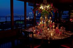 A little dinner party in Memphis overlooking the mighty Mississippi on a sultry summer night . . .oh if these walls could talk! You can read more about the hob-nobbing that has gone on around this table in the book. . . Buzz Aldren, Evander Holyfield, Priscella Presley along with other rascals, royalty, and rock stars