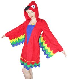 Bunter Papagei Kostüm für Damen