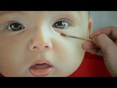Photorealistic Portrait Painting - oil painting of baby face by Janusz Migasiuk - YouTube