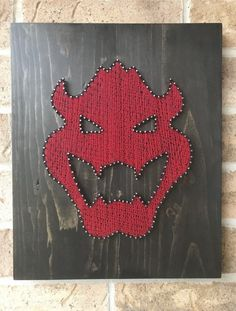 Check out this Bowser accent you could add to your home! Very unique string art accent that is currently available on my Etsy shop. Visit the listing for more photos and details