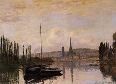 Vue de Rouen (C Monet - W 217),1872.