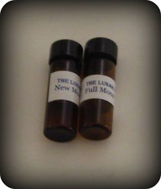 Oil blends for the New and Full Moons. Also available for the Dark Moon, Eclipse, Sidhe, Blue and Black Moon