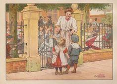 Kids Poems, Vintage School, Cornelius, Dutch Artists, Historical Pictures, Children's Book Illustration, Vintage Pictures, Antique Art, Cute Cartoon