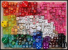 Dice rainbow via thingsorganizedneatly.tumblr