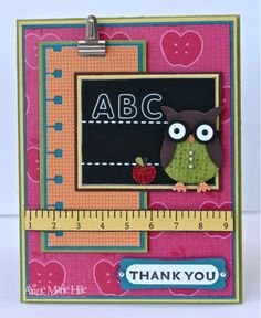 This or another back to school card would be a thoughtful way to start off the year for your child's teacher!