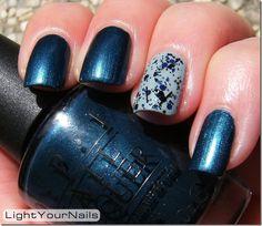 Light Your Nails: blue mani  #OPI #China_Glaze
