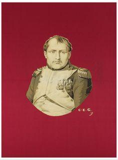 Christophe-Elie Gantillon, Portrait de Napoléon Ier, Lyon, vers 1849, présenté à l'Exposition universelle de Londres en 1851. MT 24591.1. Achat Clément, 1888 © Musée des Tissus, Sylvain Pretto