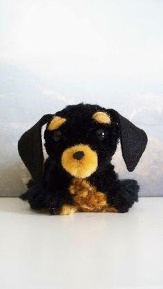 Miniature Daschund Yarn Pom-Pom Puppy by YuriandYanvar on Etsy
