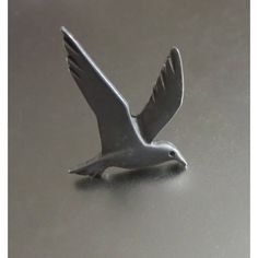 Seagull Tie Tack, Vintage Silver Tone Metal, Handsome Accessory! (€11) via Polyvore featuring home, home decor, vintage home accessories, vintage home decor and metal home decor