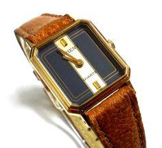 Reloj pulsera dama ORIENT QUARTZ 125547 Original Vintage a428d7d8726f