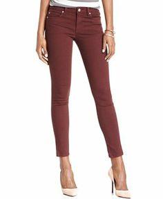Else Jeans Skinny Jeans, Red-Wash Colored-Denim.
