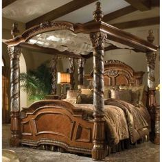 California King Canopy Bedroom Set | King Bedroom Sets | Pinterest ...