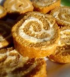 Pumpkin Rolls with Cream Cheese Filling:  a favorite Fall treat
