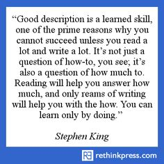 Stephen King King Quotes, Writer Quotes, Artist Quotes, Fiction Writing, Writing Advice, Writing A Book, Writers Write, Writers Notebook, Stephen King