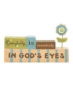 Take a look at this 'In God's Eyes' Block Collectible by Blossom Bucket on #zulily today!