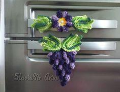 Enfeite de Uva para puxador de geladeira