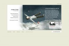 """United Airlines """"Suite Dreams"""" Microsite by Eric Bryning, via Behance United Airlines, Behance, The Unit, Dreams, Marketing"""