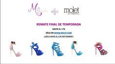 Nos hemos vuelto locos en #Manesuo. #Rebajas de final de temporada. ¡¡¡¡¡¡Date prisa que se acaban!!!!!!!!!! http://molet.com/promociones/high-heels-by-mane-suo #zapatos   #moda   #shoes   #fashion   #verano   #summer
