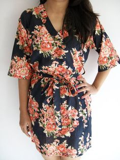Black floral robe,,, always wanted one that looks like this for some odd reason
