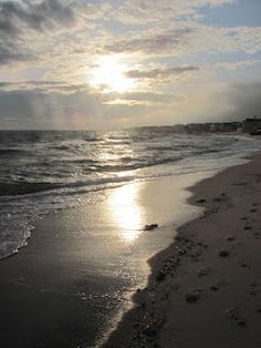 Sunset over Nantucket Sound in Dennis Port, MA