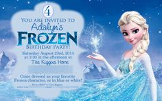 Free Frozen Birthday Party Invites like mom and apple pie frozen birthday party and free printables