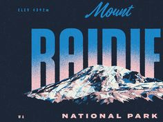 Type Hike is a collaborative non-profit design project that celebrates and supports the outdoors though typography. It was created by David Rygiol and James Louis Wal. Users And Abusers, Mount Rainier National Park, Art Prints Online, Vintage Travel Posters, Fine Art Photography, Design Elements, Wall Art Prints, National Parks, The Incredibles