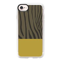 Zebra Mustard - iPhone 7 Case And Cover ($40) ❤ liked on Polyvore featuring accessories, tech accessories, iphone case, iphone cases, iphone cover case, clear iphone case and apple iphone case