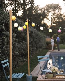 You don't need lots of space or special equipment to throw an outdoor movie party. You can put out chairs in the backyard, or spread blankets on the grass. Hang a sheet instead of using a screen.