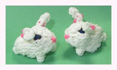 Rainbow Loom Charms: CUTE 3D Bunny (DIY Mommy Animals | Fun Loom, Crazy ...