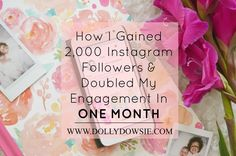 How I Gained 2,000 Instagram Followers