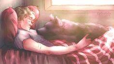 Wolfstar cuddles 3 by upthehilll on DeviantArt