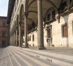 Brunelleschi, Ospedale degli Innocenti - Piazza della SS Annunziata, Florence Italy   Flickr - Photo Sharing!