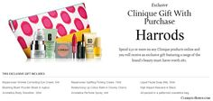 United Kingdom: Spend £50.00 or more to get this exclusive luxury Clinique gift. Available also online at Harrods! http://clinique-bonus.com/united-kingdom/