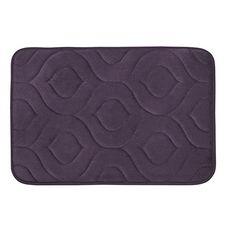 "Amazon.com: Bounce Comfort Naoli Micro Plush Memory Foam Bath Mat with BounceComfort Technology, 20 x 34"" Plum: Home & Kitchen"