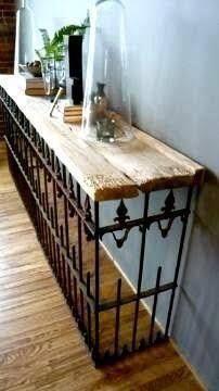 Resultado de imagen para mesas de herreria y madera