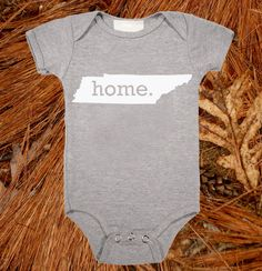 Tennessee Home State Baby Onesie perfect for Bristol :)