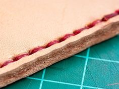 How to Hand Sew Leather: Awl, stitch groover, needles Stitching Leather, Leather Tooling, Hand Stitching, Leather Bags, How To Stitch Leather, Leather Suitcase, Leather Wallets, Couture Cuir, Leather Scraps