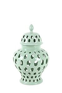 This ceramic ginger jar with cut out detail - R 3000 Mr Price Home, Home Decor Online, Ginger Jars, Home Look, Home Furniture, New Homes, Ceramics, Pretty, Seaside
