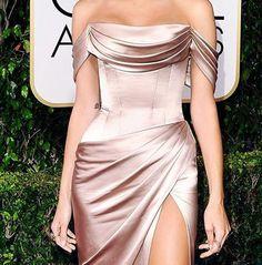 Nude Satin luxury dress