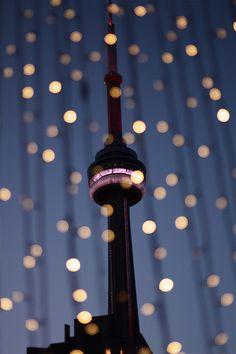 Toronto's CN Tower - photo by Lucas Medina love Toronto! Visit Toronto, Toronto City, Toronto Travel, Ontario, Bokeh, Greater Toronto Area, Canada Eh, The Great White, Toronto Canada