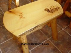 Rustic Pine bench-Country log furniture loon