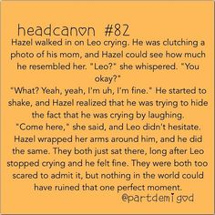 I feel so bad for Leo. He's had such a hard life, and had no real friends until he met Piper and Jason. Even then, they are best friends, leaving Leo the third wheel at all times.<<<LEO MY BABY! Percy Jackson Head Canon, Percy Jackson Memes, Percy Jackson Books, Percy Jackson Fandom, Leo Valdez, Tio Rick, Uncle Rick, Solangelo, Percabeth