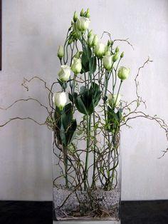 Flower arranging – Famous Last Words Deco Floral, Arte Floral, Floral Design, Faux Flowers, Fresh Flowers, White Flowers, Ikebana, Fleur Design, Corporate Flowers