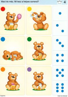 Piccolo: kroon kaart 4 Number Sense Activities, Autism Activities, Educational Games For Kids, Kids Learning, Numicon, Teaching Math, In Kindergarten, Speech Therapy, Worksheets