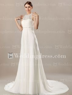 Casual Chiffon Slim Wedding Gown with Tank Top BC242