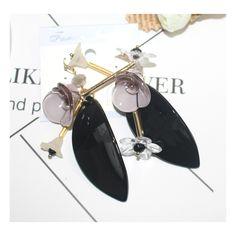 longues boucles d'oreilles 2016 fashion tassel boho earrings big black bohemian leaves water flower earing vintage pendant women