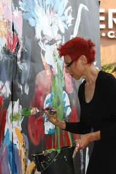 Jonqui Albin performance painter ready for October 17th! http://natsoulas.com/2015/09/8th-annual-jazz-and-beat-festival/